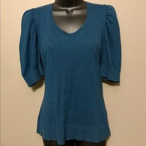 Apt.9- Teal short sleeve sweater. Size L